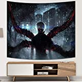 Tokyo Ghoul Tapestry Anime Tapestry Wall Decoration for Living Room Dorm Wall Hanging Birthday Gifts 60x70in