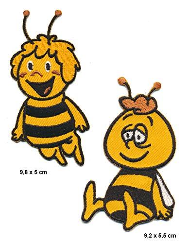 Biene Maja und Willi Aufnäher Aufbügler Patch 2 Stück Kinder Zeichentrick TURBOVERSAND