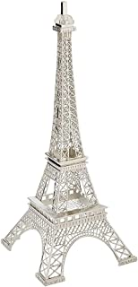 ClearSkyVision 7 Inch (18cm) Silver Metal Eiffel Tower Statue Figurine Replica Centerpiece