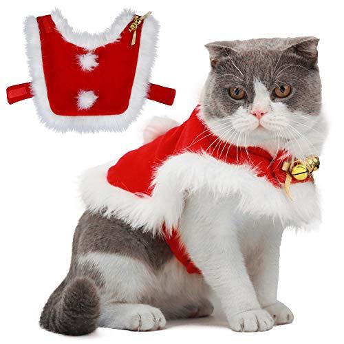 Legendog kattenkleding, Kerstmis huisdierkleding, Kerstmis kattenkleding, kattenkostuum, Leuke verstelbare kerstman kleding voor katten, huisdieren Hoodie Mantel voor katten