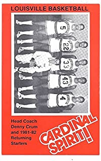 DENNY CRUM Rodney McCray 1981-82 LOUISVILLE CARDINALS Pepsi Police Basketball SGA #27 Head Coach and Returning Starters Rookie Card RC