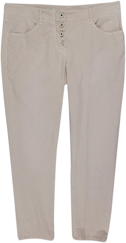 Brunello Cucinelli Women's Ivory Cotton Blend Corduroy Casual Pants 6 42