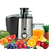 PureMate 600W NaturoPure Powerful Whole Fruit and Vegetable Juice Extractor, Centrifugal Juicer Machine with 2 Speed Settings, BPA-Free, 65MM Wide Mouth with 500ml Juice Jug & 1.4L Pulp Container