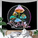 Love House Tapiz Psicodélico De Setas,Starry Sky Tapestry,Trippy Wall Tapestry Fantasía Planta Tapestry Pared Colgante Manta Arte De Pared para Decoración del Hogar-De Color 180x230cm