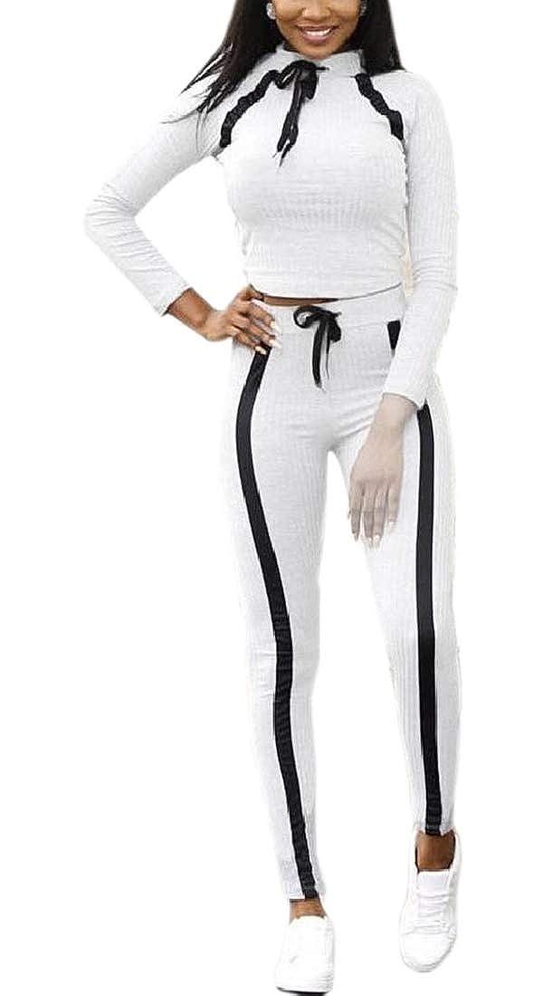 飢靴広告主女性2ピース衣装 セクシーな長袖クロップトップハイウエストスキニーパンツセット