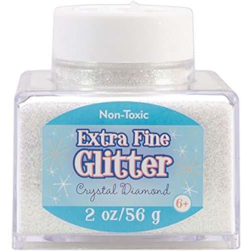Sulyn Extra Fine Crystal Diamond Glitter Stacker Jar, 2 Ounces, Non-Toxic, Stackable and Reusable Jar, Multiple Slot Openings for Easy Dispensing and Mess Reduction, SUL50860