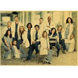 Greys Anatomy Poster Klassisch Hot Tv Kraftpapier Retro