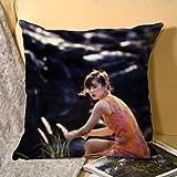 北欧スタイル叶月里绪奈(はづき りおな) Hazuki Riona枕カバーリネンクッションは、車とソファの枕カバー45 * 45 cmを家庭用ユニセックス両面印刷用にカバーします