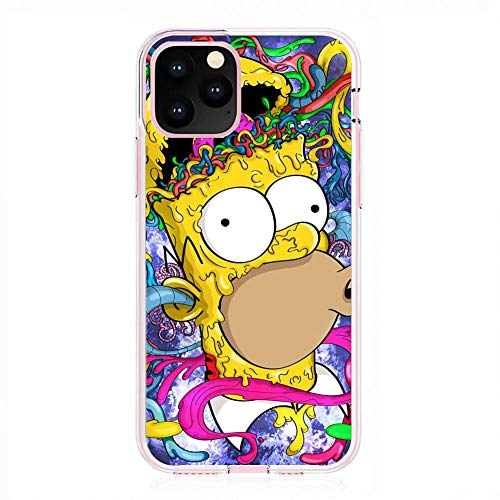 K-Kickim Case for Apple iPhone 11 Pro-Simpsons-Funny Cartoon 6 Clear Phone Case Coque Silikon Rubber