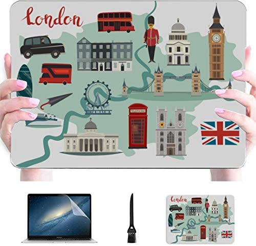 2017 MacBook Pro Case London Streets Colorful Big Ben Tower Plastic Hard Shell Compatible Mac product image