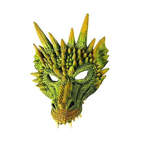 MH Mardi Gras Halloween Carnaval Fiesta PU Espuma 3D Animal Dragon Máscara Estilo Chino Dragón Scary Máscara