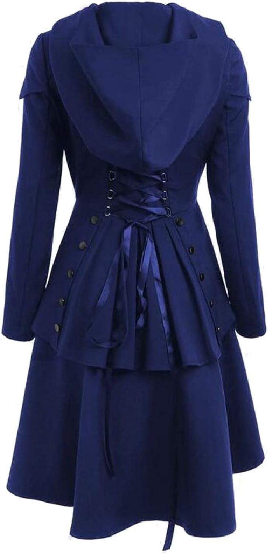 TymhgtCA Womens Long Sleeve Autumn SingleBreasted Dress Trench Coat Overcoat