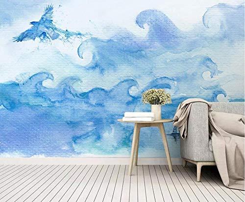 Tapete Fototapete 3D Effekt Seeadler Mit Blauer Tinte Vlies Tapeten Vliestapete Wandtapete Moderne Wand Schlafzimmer Wohnzimmer Wanddeko Wandbilders 350cmX250cm