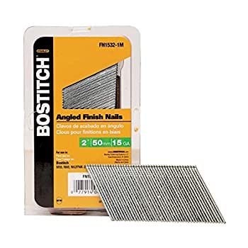 BOSTITCH Finish Nails FN Style Angled 15GA 2-Inch Indoor use 1000-Pack  FN1532-1M   Package May Vary