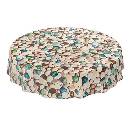 Anro - Mantel de hule lavable, para mesa, 95% PVC, 5% polié