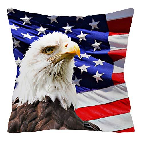 Goosuny Kissenbezug USA Flagge Muster Kissenbezüge Sofakissen Couchkissen Dekokissen Kissen Bezüge Für Home Sofa Auto Dekorative, 45X45 cm