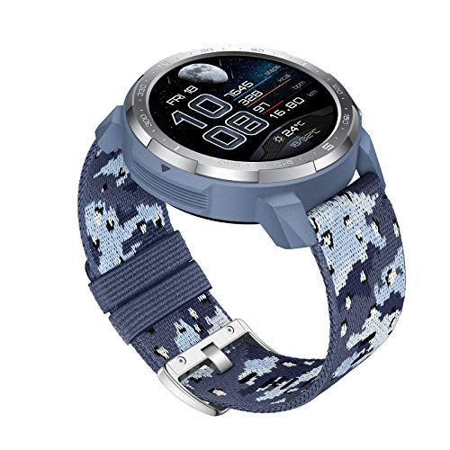 Huawei Honor Watch GS Pro Smartwatch Hombres GPS 100+ Modos Deportivos Llamadas Bluetooth, 14 Normas Militares, Fitness Tracker con batería de 25 días, Pulsómetro, Spo2 Monitor (Camo Blue)