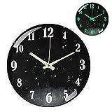 Reloj de pared Luminoso, 30cm Reloj Pared Grande Moderno, Vintage Decorativo Reloj Pared de Cuarzo Silencioso para Cocina, Salon, Oficina y Dormitorio, Oficina Funciona con Pilas