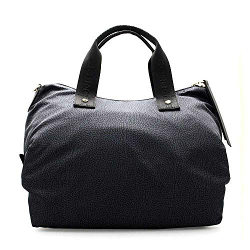 Borbonese Handbag, Borsa a Mano Donna, (Nero), 33x16x15 cm (W x H x L)
