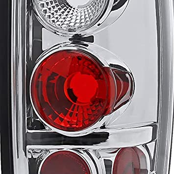 Right Pair Spec-D Tuning Black Housing Clear Lens Tail Lights for 1997-2002 Expedition Taillights Assembly Left