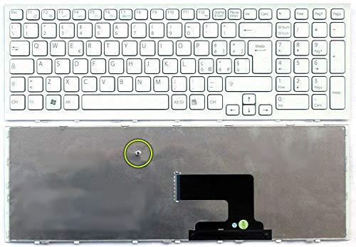 Siliconvalleystore Tastiera Italiana Notebook Sony VPC-EH PCG-71911M 71811M Bianca