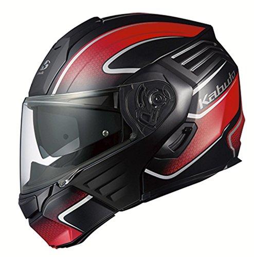 オージーケーカブト(OGK KABUTO)バイクヘルメット システム KAZAMI XCEVA(エクセヴァ) フラットブラックレッド (サイズ:XL) 571726