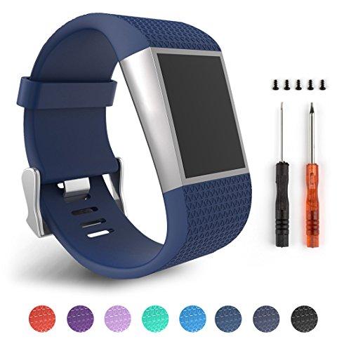 Correas de repuesto para la pulsera con monitoreo de actividad Fitbit Surge, color Blue Size L