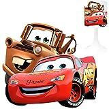 Lámpara de noche para niño de Creación, CARS 1, personalizable con Prenom (para el nombre sigue el enfoque en la descripción).