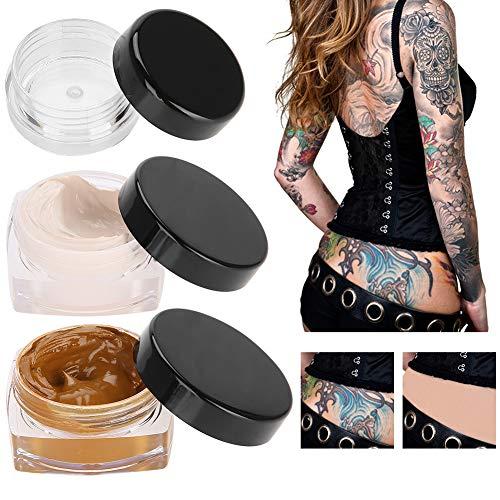 Tatuaggio correttore, aggiornamento professionale pelle impermeabile crema camouflage Cicatrice nascondere tatuaggio Cover Up trucco per punti Vitiligine Segni