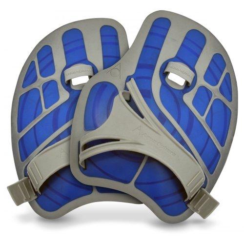 Aqua Sphere Ergo Flex Hand-Paddel / Aquajogging-Handschuhe, 1 Paar (Small) (Blau)