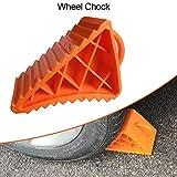 Wangza - Cuñas de plástico para remolque, coche, caravana, camión, portátil, pequeño, resistente, de alto rendimiento