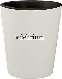 #delirium - White Outer & Black Inner Hashtag Ceramic 1.5oz Shot Glass
