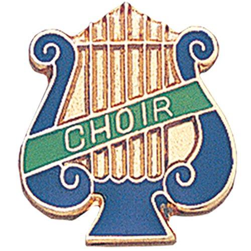 Music Lyre Choir Lapel Pin