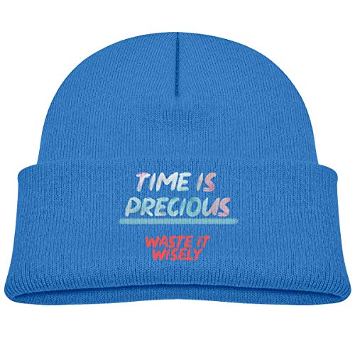 Daibing Time is Precious Waste It Wisely Knit Caps Baby