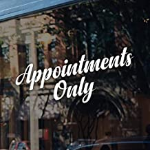 CELYCASY Appointments Only Decal Sign Salon Window Door Business Appointment Sign