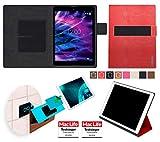 Hülle für Medion Lifetab P9701 Tasche Cover Case Bumper   in Rot Leder   Testsieger