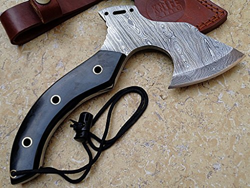 Custom Damast Bowie Messer Axt Jagdmesser Mit Lederscheide