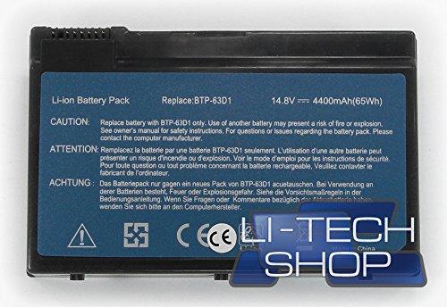LI-TECH Batería Compatible para Acer Extensa 2600 14,4 V 14,8 V de...