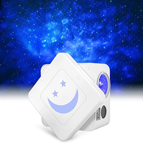 LED Rotierende Sternenlicht Projektor, Delicacy Würfel Sternenprojektor, Wasserwellen Projektor Lampe mit Timer, für Geschenke/Dekoration/Kinder/Erwachsene