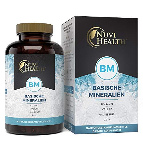 Basencitrat - 240 Kapseln - Organische Basische Mineralien - Extra hochdosierte Basen: Mit viel Magnesium, Zink, Kalium, Calcium - Laborgeprüft - Vegan