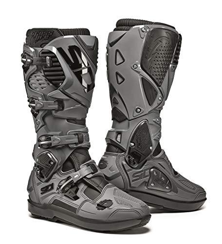 Sidi Crossfire 3 SRS Motocross Boots Stivali Motocross Nero/Grigio/Bianco 46