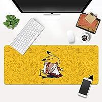 クリエイティブピカチュウパターンダイニングテーブルマットナルトクリエイティブ要素特大マウスパッド厚いシームノンスリップデスクマット洗える小さなマウスパッド (A7,800*300*4mm)