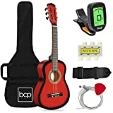 Best Choice Products 30in Kids Acoustic Guitar Beginner Starter Kit with Electric Tuner, Strap, Case, Strings - Redburst
