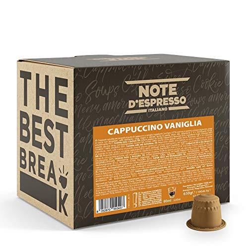 Note d'Espresso Italiano - Cápsulas Sistema Nespresso, compatibles con cafeteras Nespresso, de Capuchino y Vainilla, 100 x 6.5 g, Total 650 g