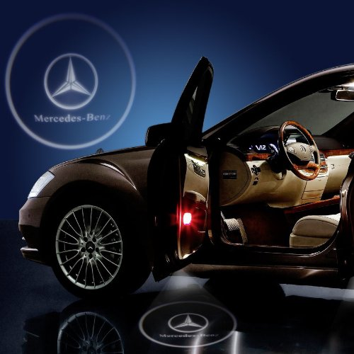 Luz LED para puerta de coche con proyector de logo Mercedes Benz ...