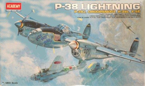 Academy -Modellino Aereo Lockheed P-38J / L/Droop Snoop Scala 1:48 (Replaces ACA02115) - ACA12282