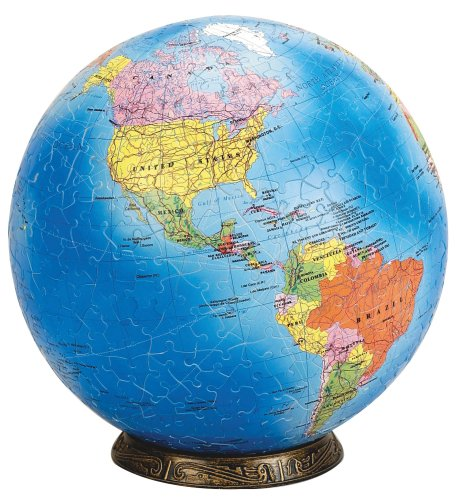 "Esphera 360 9"" 540 Pieces World Globe: Political Map by Mega Brands"