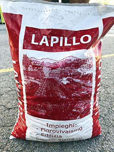 LAPILLO VULCANICO Rosso Medio Sacco LT.33 GRANULO 11-18MM Riduce L'APPORTO IDRICO E Decorativo