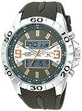 U.S. Polo Assn. Men's Analog-Quartz Watch with Rubber Strap, Green, 24 (Model: US9628)