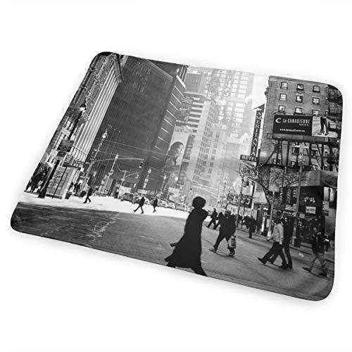 Street Life On Broadway New York City Matelas à langer portable pour nouveau-né garçon et fille Voyage Matelas à langer réutilisable Respirant Anti-fuite pour nourrissons 25,4 x 31,5 cm